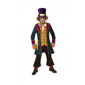 Te Gek Druk Gekke Hoedenmaker Mad Hatter Man Kostuum