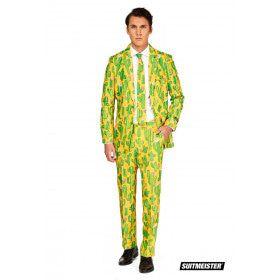Sunny Yellow Cactus Man Kostuum