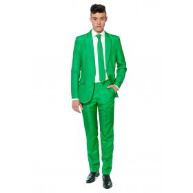 Gras Solid Green Suitmeister Man Kostuum