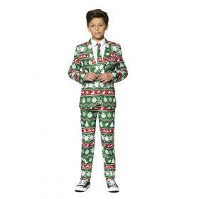 Kerst Symbolen Sterren Ballen Bomen Jongen Kostuum