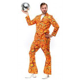 Jaren 70 Hippie Soul Disco 60s Agent Orange Man Kostuum