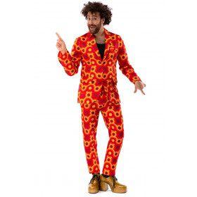 Oranje Jaren 70 Hippie Disco 60s Sam Show Man Kostuum