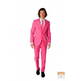Mr. Pinker Than Pink Roze Opposuit Kostuum Man