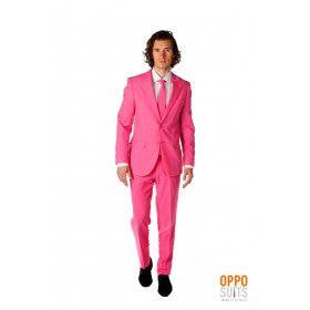 Mr. Pinker Than Pink Roze Opposuit Kostuum Man