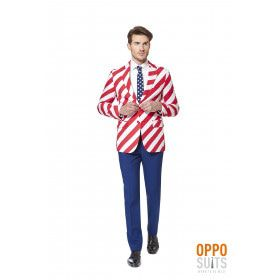 USA United Stripes Opposuit Man Kostuum