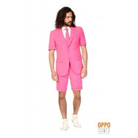 Summer Festival Extravagant Mr. Pink Opposuit Kostuum Man