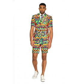 Abstractive Caleidoscoop Man Kostuum