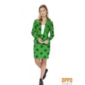 Iers St. Patricks Girl Opposuit Vrouw Kostuum