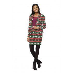 Festive Girl Kerstfeest Vrouw Kostuum