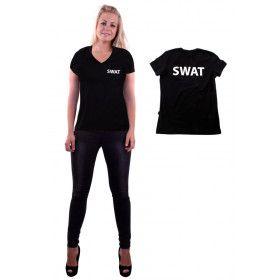 Zwart Swat T-Shirt Vrouw