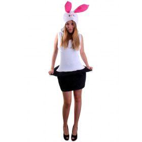 Sexy Wit Konijn Uit Hoge Hoed Vrouw Kostuum