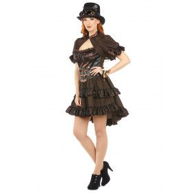 Steampunk Liverpool 19e Eeuw Vrouw Kostuum