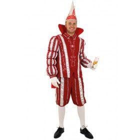 Prins Carnaval 11 November Rood Wit Man Kostuum