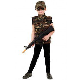 Carmen Camouflage Commando Chick Vest Kind