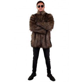 Eindeloze Siberische Winters Pool Jas Bruin Man