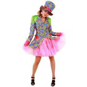 Flower Power Slipjas Hippie Clown Vrouw