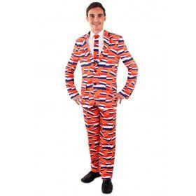 Nederland Oranje Driekleur Vlaggetjes Man Kostuum