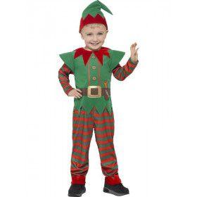 Kleuter Kerst Elf Kind Kostuum