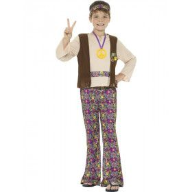 Peace Paix Frieden Vrede Hippie Jongen Kostuum