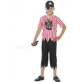Grote Schatzoeker Piraat Jongen Kostuum