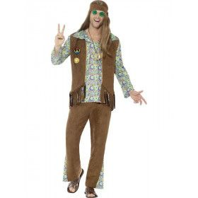 Crosby High Hippie Man Kostuum