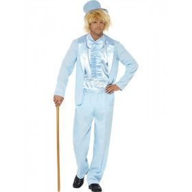 Zacht Blauw Smoking Man Kostuum