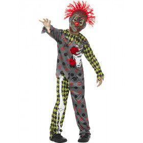 Totaal Verknipte Horror Clown Jongen Kostuum