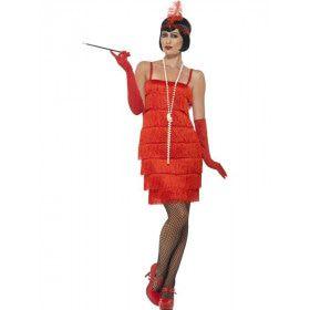 Red Rita Flapper Vrouw Kostuum