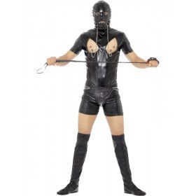 Geinig Bondage Gimp Bodysuit Man Kostuum