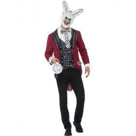 Gruwelijk Gevaarlijk Wonderland Konijn Man Kostuum