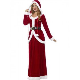 Mooie Warm Rode Kerst Vrouw Kostuum