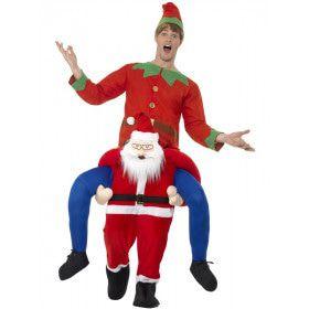 Ritje Op Een Kerstman Kostuum