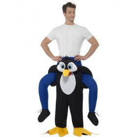 Rijden Op Een Pinguin Man Kostuum