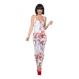 Spetter Vol Bloederige Handjes Vrouw Kostuum