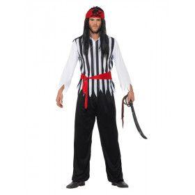 Streepje Voor Piraat Steven Man Kostuum