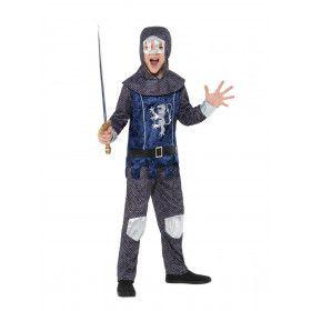 Middeleeuwse Ridder Zonder Vrees Jongen Kostuum