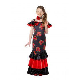 Bloemrijk Flamenco Danseres Conchita Meisje Kostuum