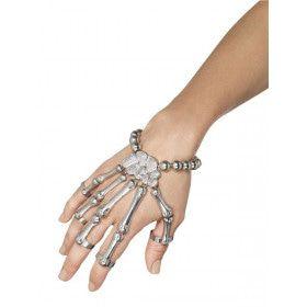 Skelet Armband Zilverkleurig