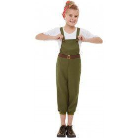 Stoere Boerenmeid Leger Meisje Kostuum