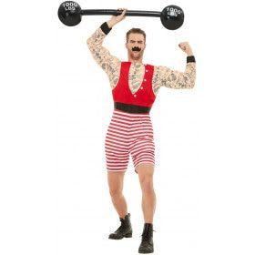Sterke Man Circus Artiest Kostuum
