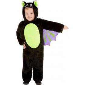 Zachte Pluizige Vleermuis Kind Kostuum
