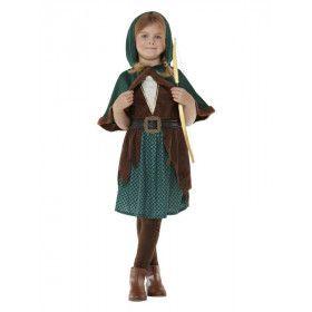 Deluxe Middeleeuwse Boogschieter Hanna Meisje Kostuum