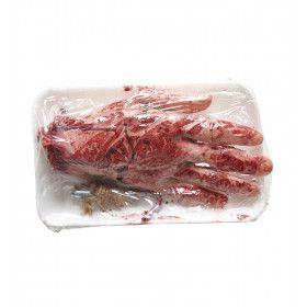 Gruwelijke Slager Bloederige Afgehakte Hand, Verpakt