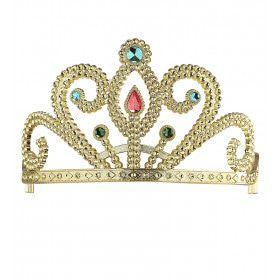 Koninklijke Prinsessenkroon Zilver Met Diamanten En Goud