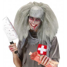 Wilde Professor Pruik, Kale Kop Met Haar Zombie