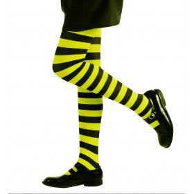 Gestreepte Kinderpanty Groen / Zwart
