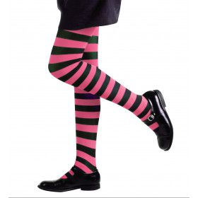 Gestreepte Kinderpanty Roze / Zwart