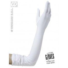 Handschoenen Lycra, Wit