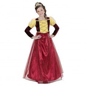 Jonkvrouwe Middeleeuwse Prinses Meisje Kostuum