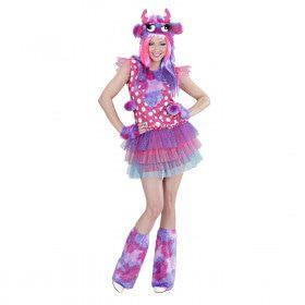 Roze Monster Meisje Ms Comic Strip Vrouw Kostuum